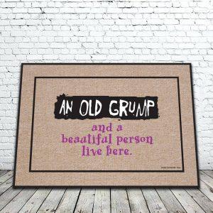 Old Grump Lives Here Mat