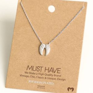 Angel Wings Pendant Necklace (silver)