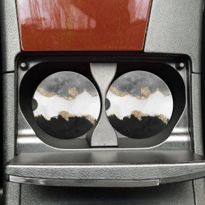 Black Marble Car Coasters