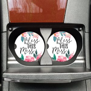 Bless This Mess Car Coasters