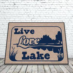 Live Love Lake Mat