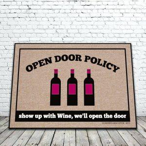 Open Door Policy Wine Mat