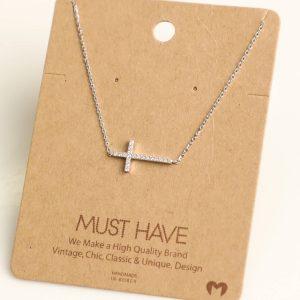Rhinestone Cross Necklace