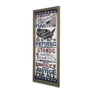 Wood Pledge Of Allegiance Wall Plaque