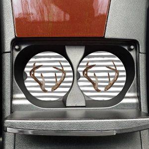 Antlers & Stripes Car Coasters