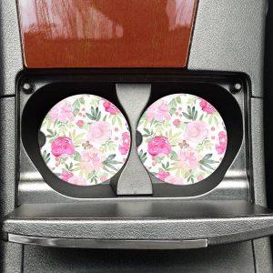 Peonies Car Coasters