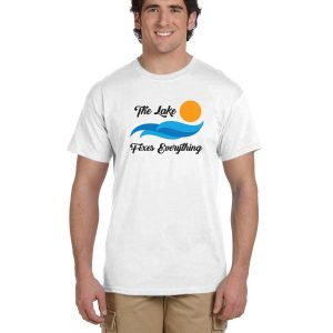 The lake fixes everything (men's T)